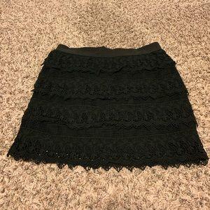 Short Black Lace Skirt American Eagle